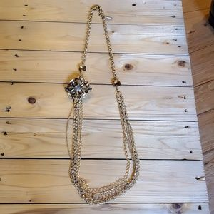 Chico's Gold Statement Necklace
